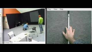 Blind man finds his cane through visual-to-auditory sensory substitution