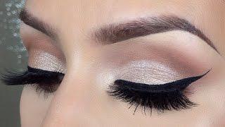 Simple Easy cut crease makeup tutorial