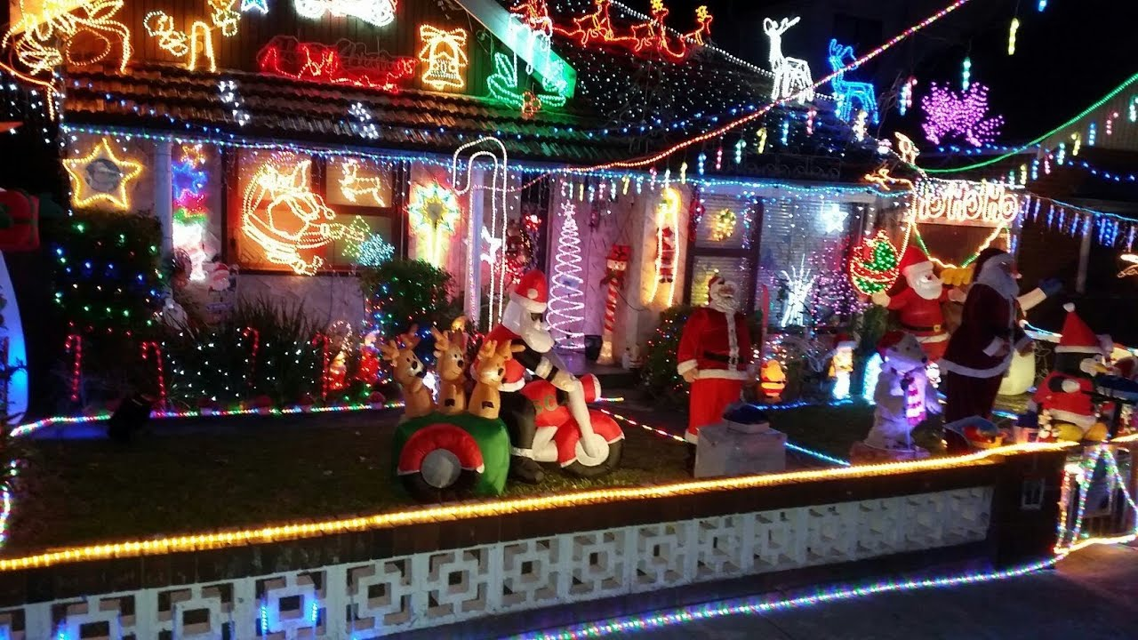 2017 Christmas Lights Display Best House In Sydney Australia Part 1 15 33sec You