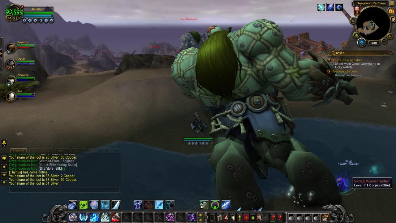 WoW Freakz Legion PTR Eye of Azshara dungeon attemp