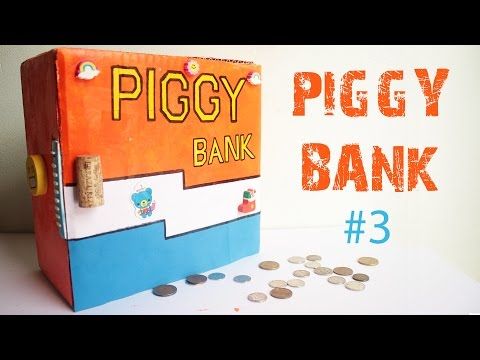 How to make an SECRET PIGGY BANK at Home #3- Easy-to-Make