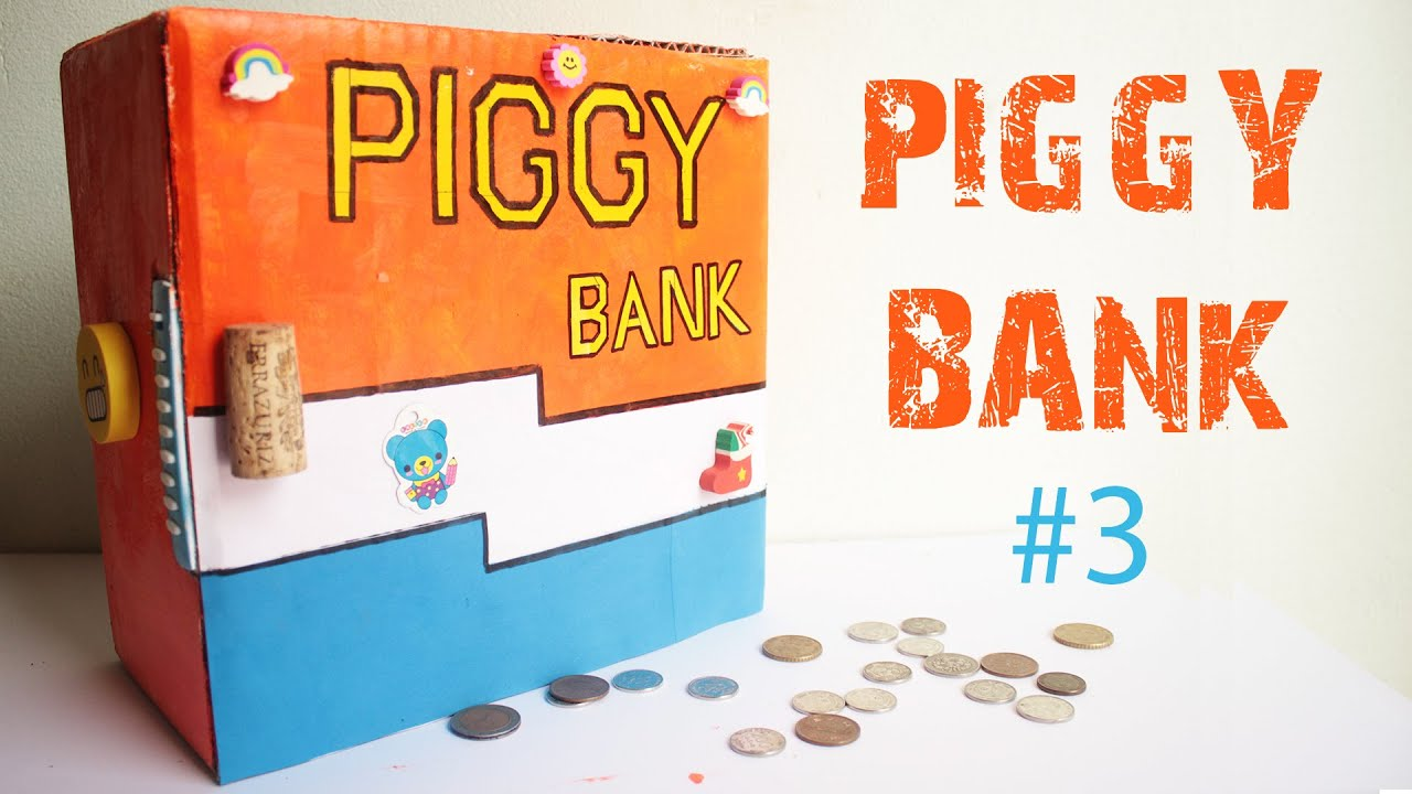 How to make an secret piggy bank at home 3 easy to make for How to make a simple piggy bank