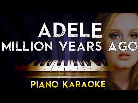 Adele - Millon Years Ago   Lower Key Piano Karaoke Instrumental Lyrics Cover Sing Along