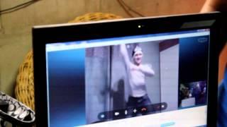 Derek dancing to Psy's Gangnam music