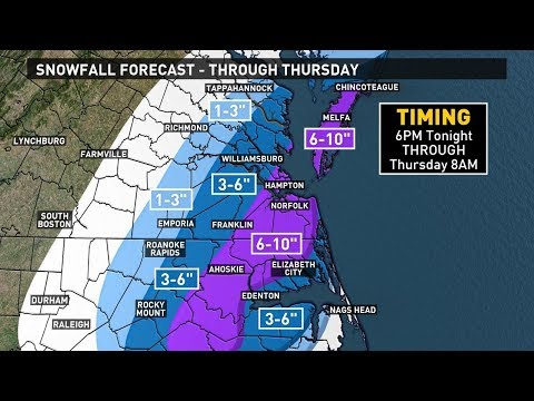13News Now Winter Weather Forecast 1/3/18: Snow begins tonight
