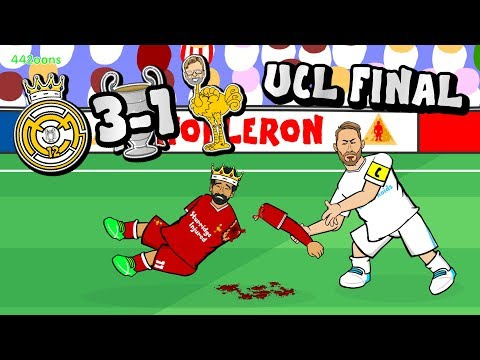 🏆RAMOS ATTACKS SALAH!🏆 Bale goal! Real Win the Champions League! Karius! (3-1  Parody Highlights)
