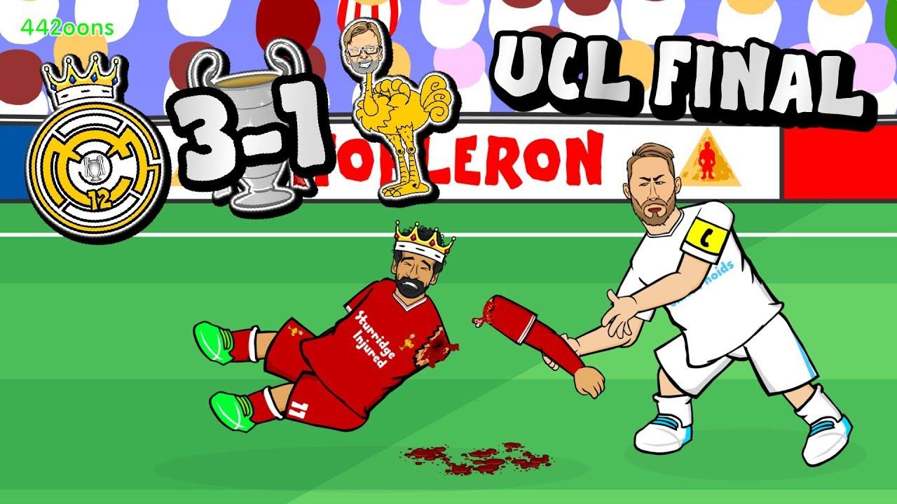 RAMOS ATTACKS SALAH!🏆 Bale goal! Real Win the Champions ...
