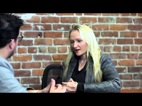Martijn talks to Lila Tretikov, Executive Director of the Wikimedia Foundation