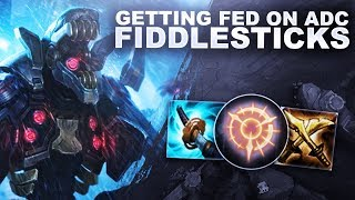 ADC FIDDLESTICKS WORKS! GETTING FED BABY!   League of Legends