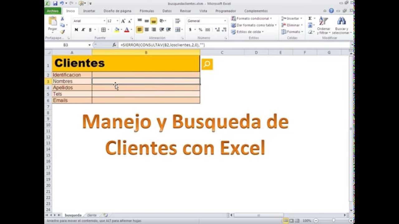 Plantilla: Manejo y Consulta de Base de datos en Excel con VBA ...