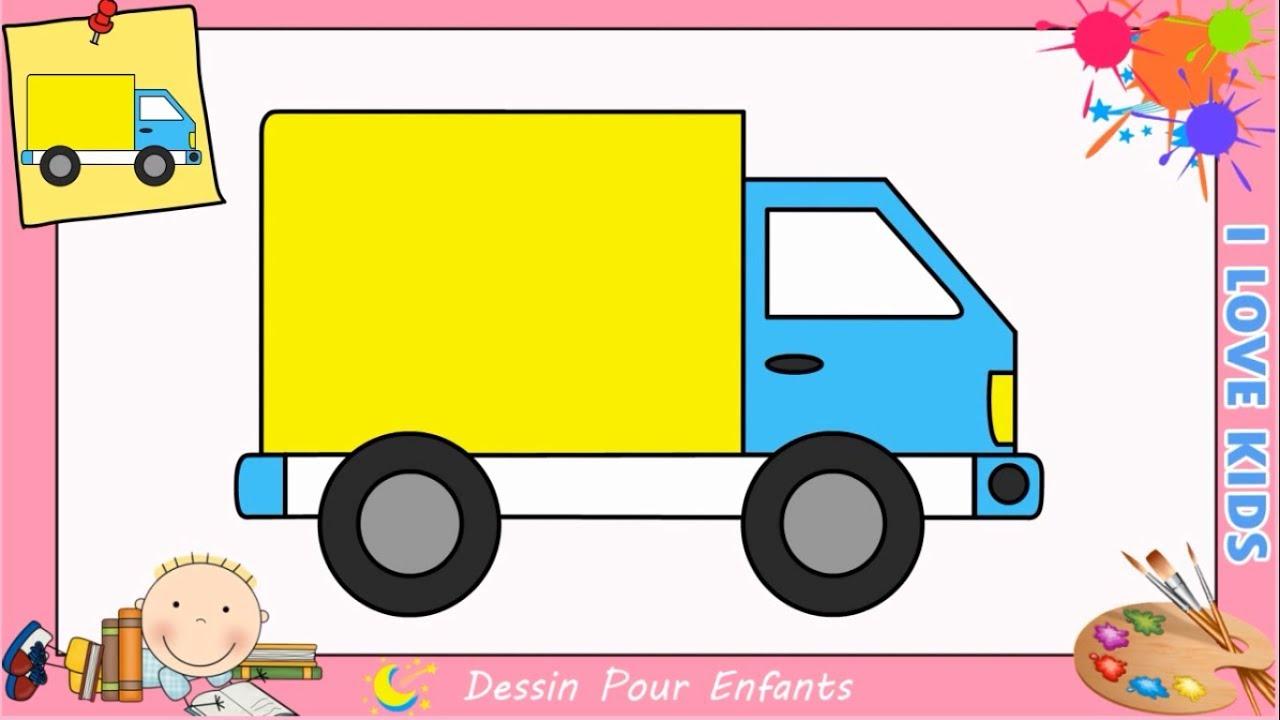 Apprendre dessiner un camion dessins simples dessin - Dessiner un camion de pompier ...