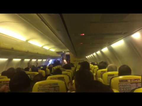 Legendary Ryanair Pilot Gets The Party Started Early For Irish Fans Flying To Lyon