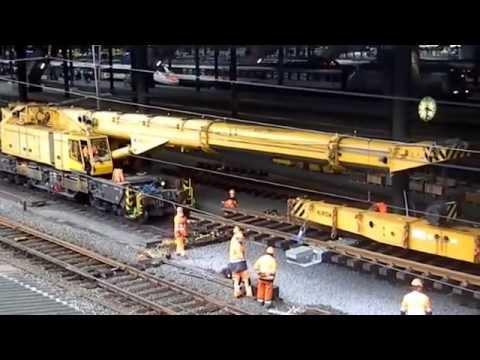Gleis bau technik Track construction Technology Eisenbahn Schweiz.Railway switzerland Train