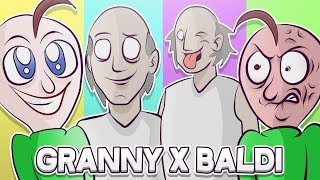 BALDI BASICS X GRANNY HORROR GAME ANIMATION COMPILATION #1