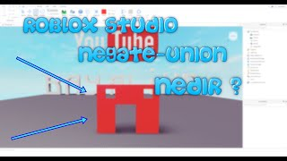 What is Roblox Studio Negate-Union (Drilling holes in blocks)English