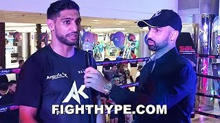 PAULIE MALIGNAGGI AND AMIR KHAN REUNITE IN RING; 9 YEARS AFTER FIGHT, ROLES HAVE CHANGED