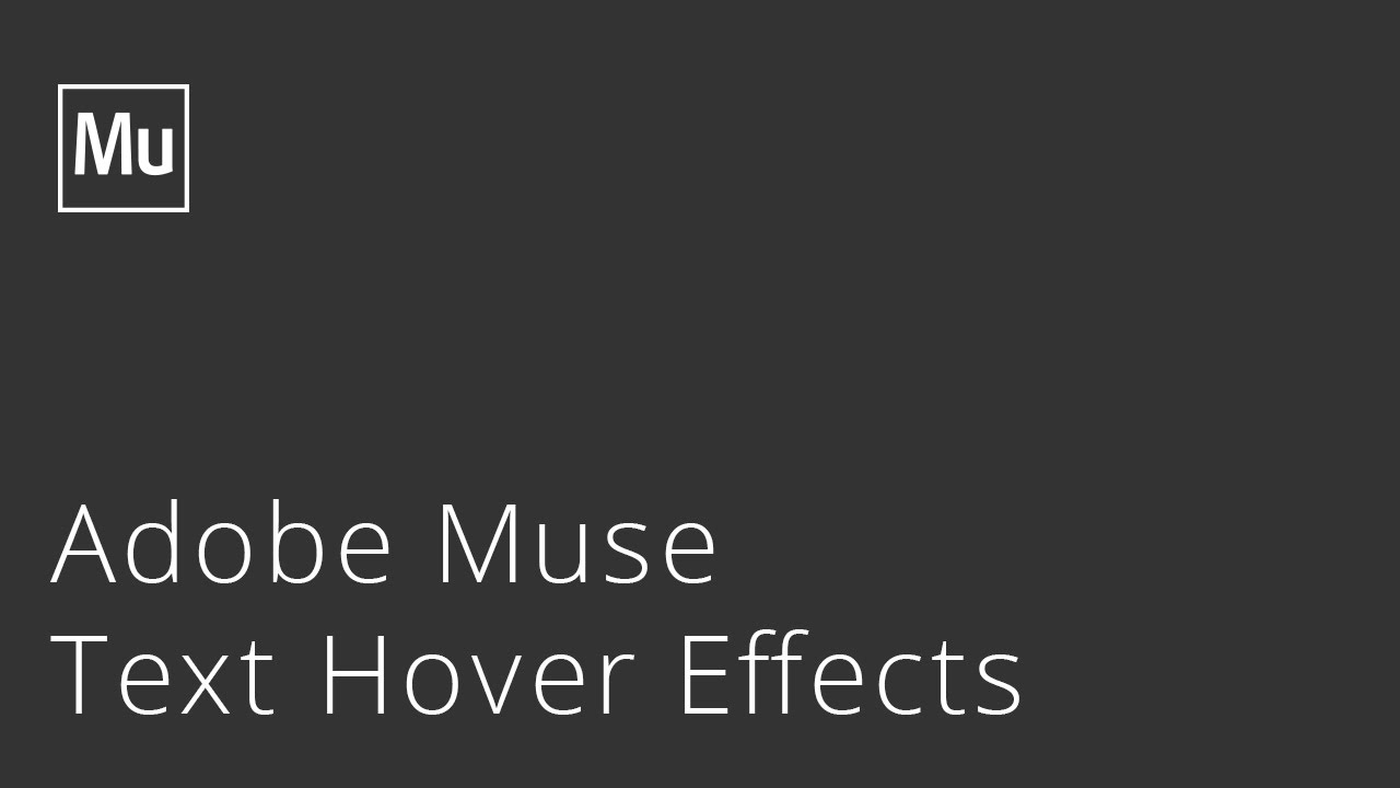 Adobe Muse Text Hover Effects Widget