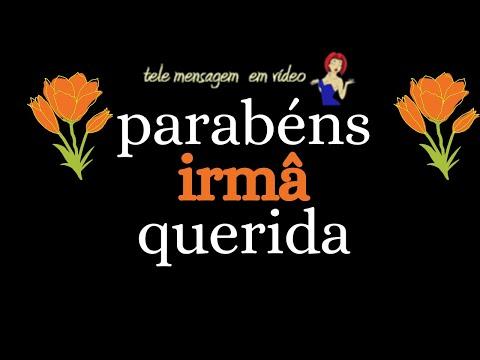 ANIVERSARIO DE IRMA PARABÉNS QUERIDA IRMA VOZ FEM