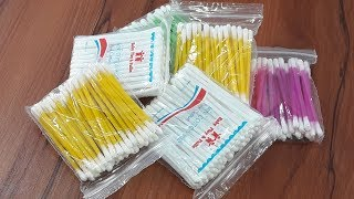 Cotton buds & Hair rubber band craft for Home decor   how to reuse Cotton buds & Hair rubber