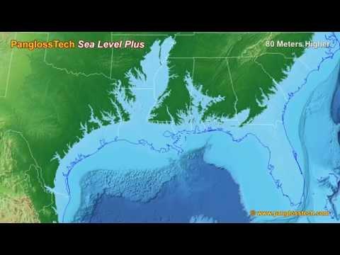 Sea Level Rise On The US Gulf Coast (New HD)