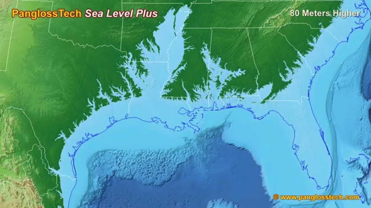 Sea Level Rise On The US Gulf Coast New HD YouTube - Us sea level rise map