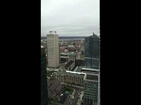 The Sheraton Hotel downtown Montreal time lapse