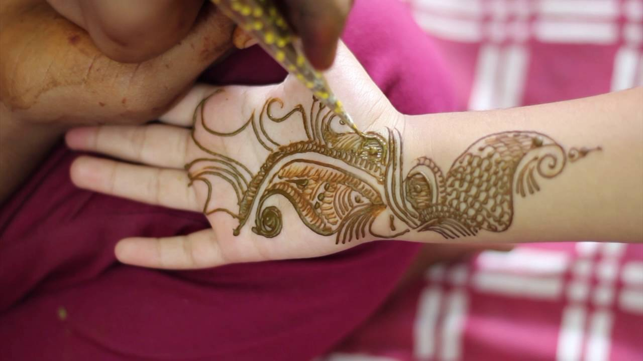 Beautiful Mehndi Designs for Kids Hands , Latest Cute Henna Designs for  Kids Full Hands DIY