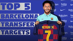 Top 5 BARCELONA Transfer Targets 2020! TRANSFER NEWS ft. Neymar & Lautaro Martinez