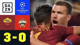 Edin Dzeko und Cengiz Ünder treffen: AS Rom - ZSKA Moskau 3:0 | UEFA CL | DAZN Highlights