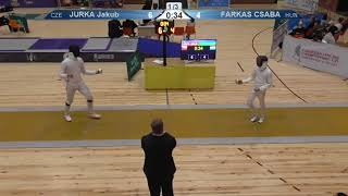 FE 2018 T32 08 M E Individual Yerevan ARM U23 European Championships YELLOW JURKA CZE vs FARKAS HUN