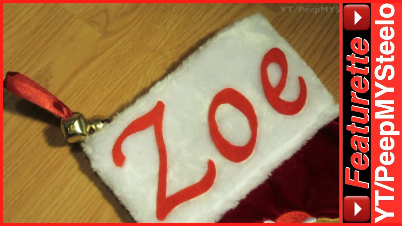 Homemade Personalized Christmas Stockings w/ Felt Letter Patterns For Pet  Dog or Baby Kids Names