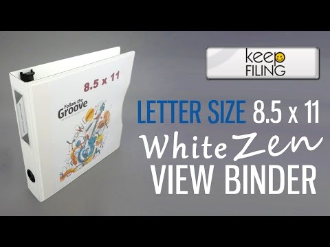 8.5 x 11 Letter Size White Zen View Binder™ | Keepfiling