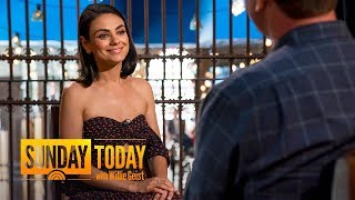 Mila Kunis: Ashton Kutcher Urged Me To Take 'The Spy Who Dumped Me' Role | Sunday TODAY