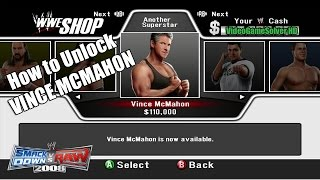 How to Unlock VINCE MCMAHON - WWE SmackDown Vs. Raw 2008 [Xbox 360]