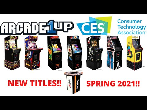 Arcade1up: CES2021 New Games Unveiled! from PsykoGamer