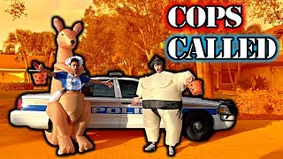 TRICK OR TREATING EARLY PRANK!! (COPS CALLED)