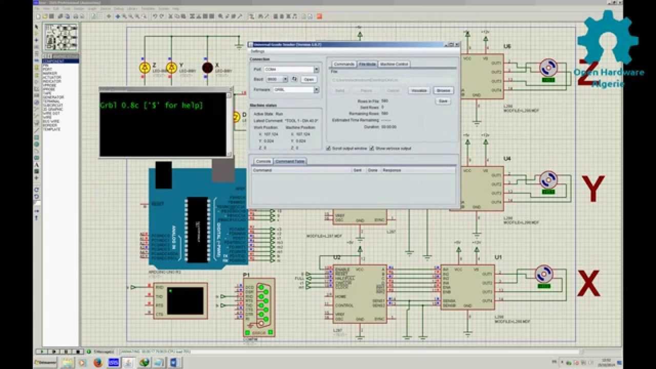 Simulation De La Commande D Une Machine Cnc Via Arduino