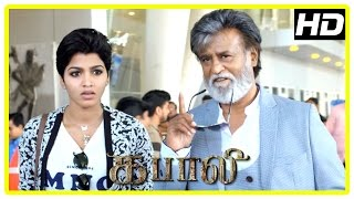 Kabali Tamil Movie | Rajini and Dhansika reach Chennai to meet Radhika Apte | John Vijay | Kishore