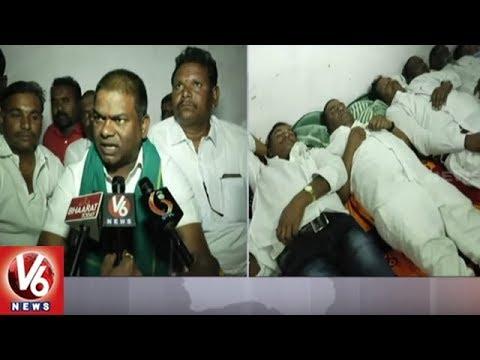 TRS MLA Jeevan Reddy Participates In Palle Nidra Praja Darbar In Nizamabad District | V6 News