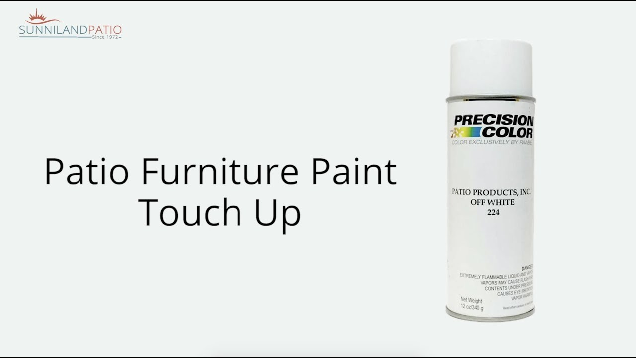 Patio Furniture Paint Touch Up Youtube