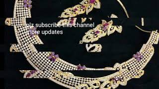 Braid cz stones neck sets latest models