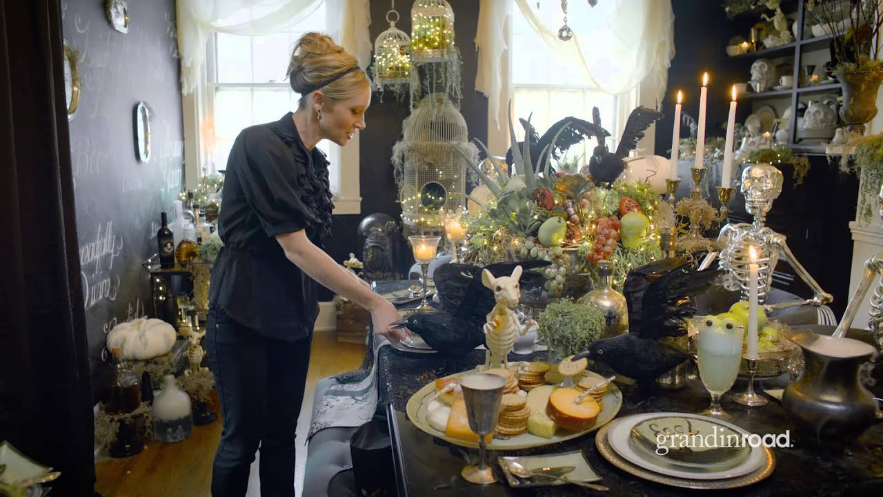 How To Decorate Your Halloween Table‬‬ Grandin Road