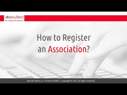 How to Register an Association?