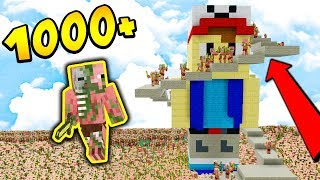 1000 PIGMANÓW vs POMNIK VITO + TNT!!!! - MINECRAFT APOKALIPSA #13