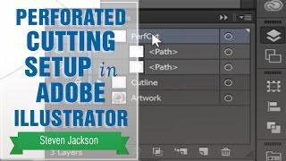 Perforated Cutting Setup in Adobe Illustrator