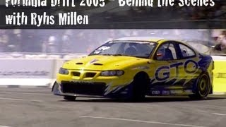 video thumbnail of Formula Drift 2005 - Behind the Scenes with Rhys Millen and RMR