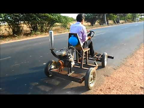 AUTOMOBILE ENGG PROJECT PROPELLER CAR  (AIR THRUST DRIVEN CAR) HI-TECH RESEARCH FOUNDATION