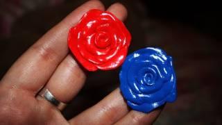 DIY complementos: como hacer anillos en forma de rosa (fimo)