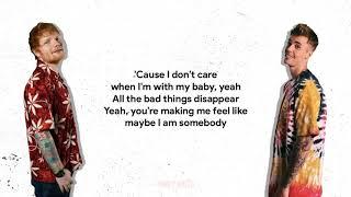 Ed Sheeran & Justin Bieber - I Don't Care [Lyrics]