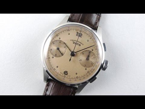 Steel Vetta Cronografo vintage wristwatch, circa 1945
